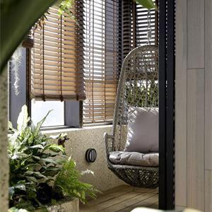 花艺绿植阳台装修效果图