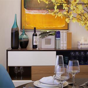 新古典别墅装修餐厅效果图