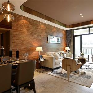 现代简约风米色系客厅装饰效果图