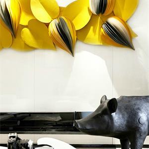 简洁现代客厅背景墙装饰设计