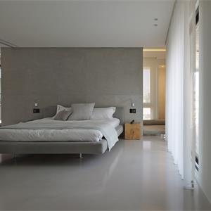 110平灰色卧室装修效果图