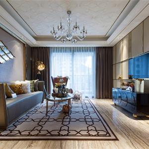 美式风格三居室装修客厅
