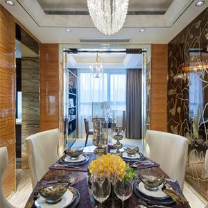 美式风格三居餐厅装修设计图