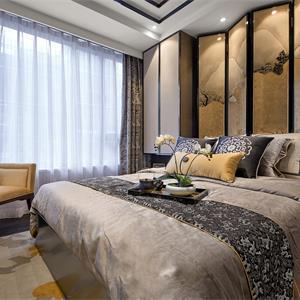 二居室中式風格裝修臥室效果圖