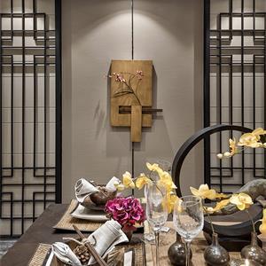 中式样板间装修餐厅效果图