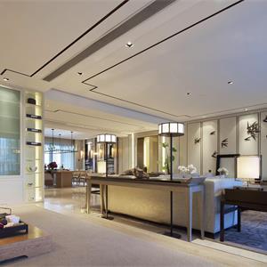大户型中式别墅大宅风格装修客厅设计