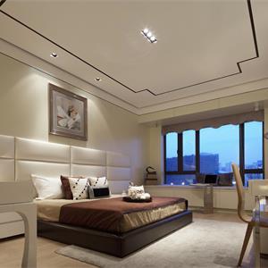 中式三居室裝修臥室效果圖
