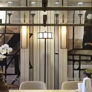 140㎡中式风格客厅背景墙装修效果图