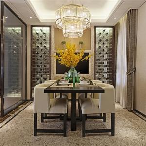 160平米中式风格装修餐厅布置图