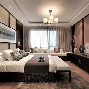 禅意中式风卧室装修效果图