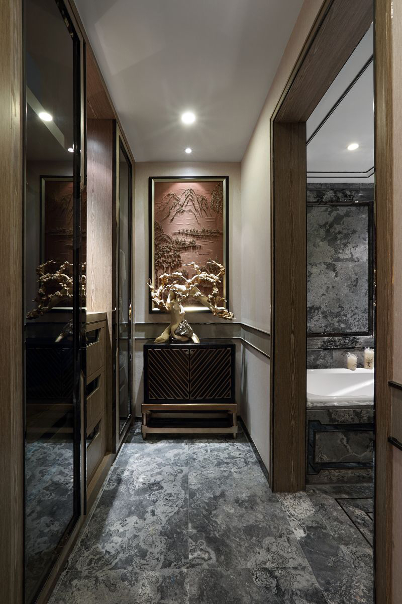 130㎡中式风格装修客厅效果图