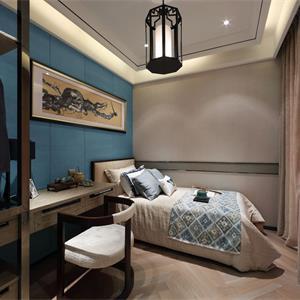 140平中式风格卧室书架装修效果图