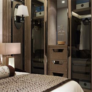 二居室中式风格装修卧室衣柜效果图