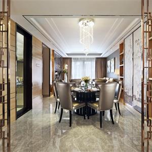 186平中式风格装修餐厅设计图
