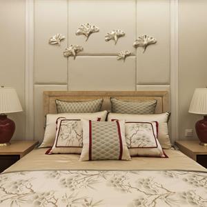 中式別墅裝修臥室布置圖