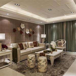 現代中式風格客廳裝修效果圖