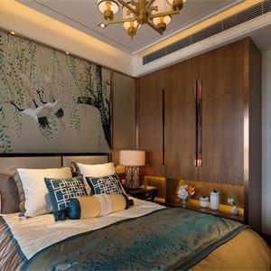 160平米中式風格臥室裝修效果圖