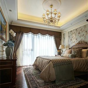 美式卧室三室一厅装修效果图
