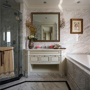 140平欧式风格装修卫生间设计图