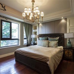 新古典风格样板间卧室装修效果图