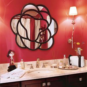 美式红色调卫生间装修效果图
