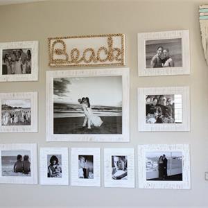 105㎡地中海风格客厅照片墙装修效果图