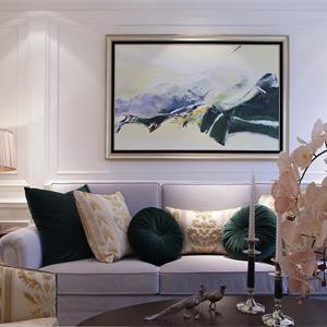 135㎡美式风格装修客厅一角